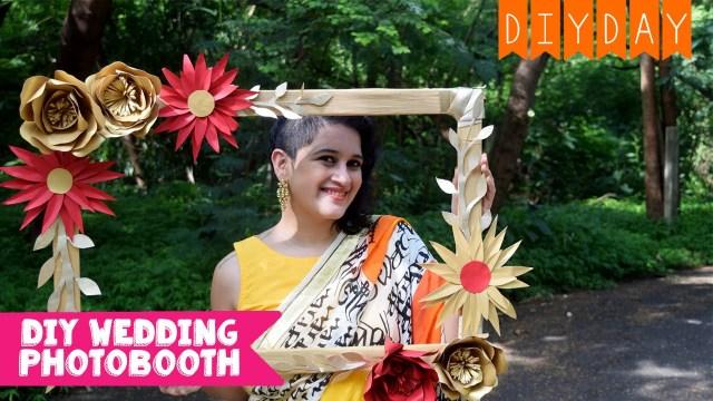 Diy Wedding Photobooth Diy Photo Booth Frame Wedding Sangeet Mehendi Diy Day Wedding