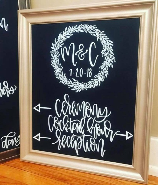 Diy Wedding Signs Brides Bubbly Diy Wedding Signs The Chalk Market