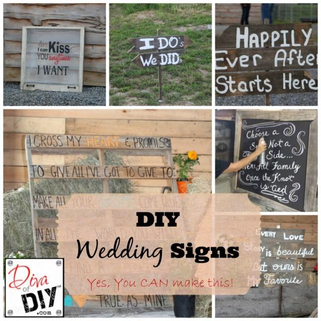 Diy Wedding Signs Cheap Rustic Wedding Ideas