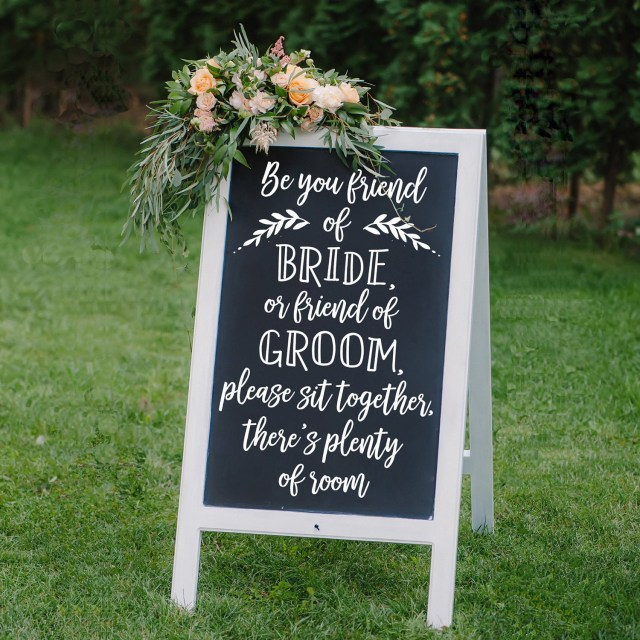 Diy Wedding Signs Choose A Seat Not A Side Wedding Decal Diy Wedding Signs Etsy
