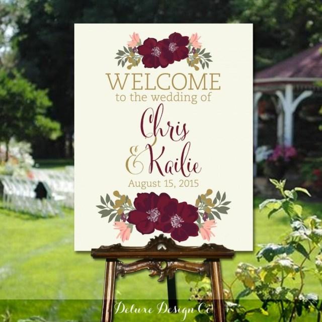 Diy Wedding Signs Wedding Welcome Sign Printable Printable Diy Large Custom Wedding