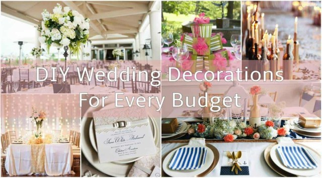 Diy Wedding Tables Diy Wedding Decorations For Every Budget Inspired Bride