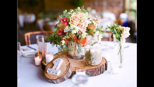 Diy Wedding Tables Easy Diy Ideas For Rustic Wedding Decorations Youtube