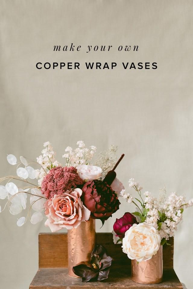 Diy Wedding Vases Diy Copper Wrap Vases Ruffled