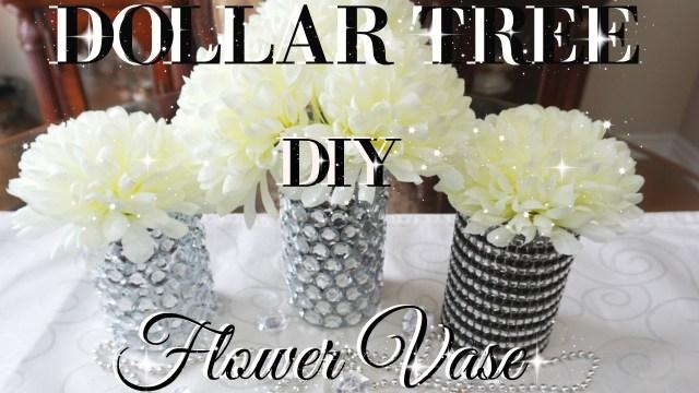 Diy Wedding Vases Diy Dollar Tree Bling Flower Vases Decor Petalisbless Youtube