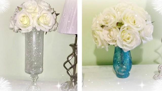 Diy Wedding Vases Diy Glamorous Wedding Centerpiece Tall Vase Dollar Tree Deals Youtube