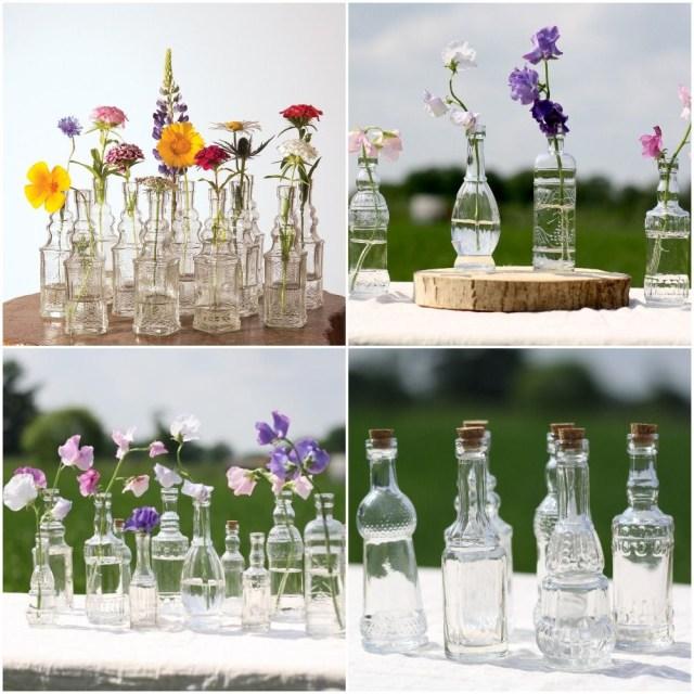 Diy Wedding Vases Ella Vintage Pink Vintage Glass Bottle Glassware Flower Vase Wedding