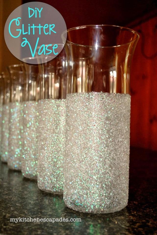 Diy Wedding Vases Glitter Vases For Wedding Or Christmas Decorations Diy Vase
