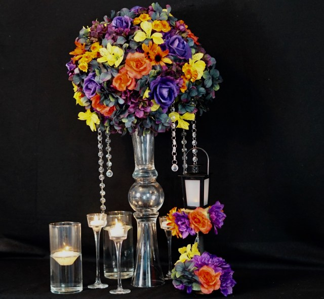 Diy Wedding Vases How To Make A Tall Fall Wedding Centerpiece With A 3 Diy Dollar