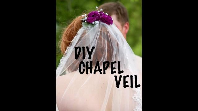 Diy Wedding Veil Diy Wedding Veil Chapel Length Diy Fran Youtube