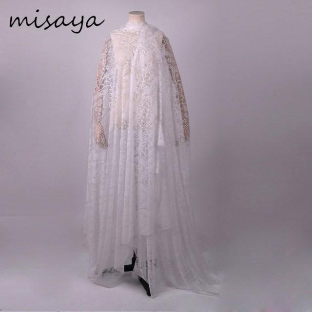 Diy Wedding Veil Misaya 3meter Chantilly Eyelash Lace Trim Width 160cm Flower Mesh