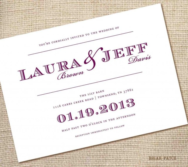 Do It Yourself Wedding Invitations Templates Homemade Wedding Invitations Templates Fwauk
