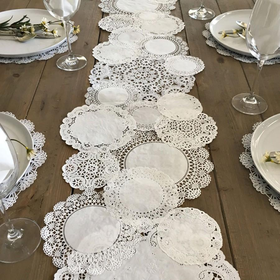 Doilie Wedding Decor Prettie Table Runner Shab Rustic Paper Doilies Diy Weddings