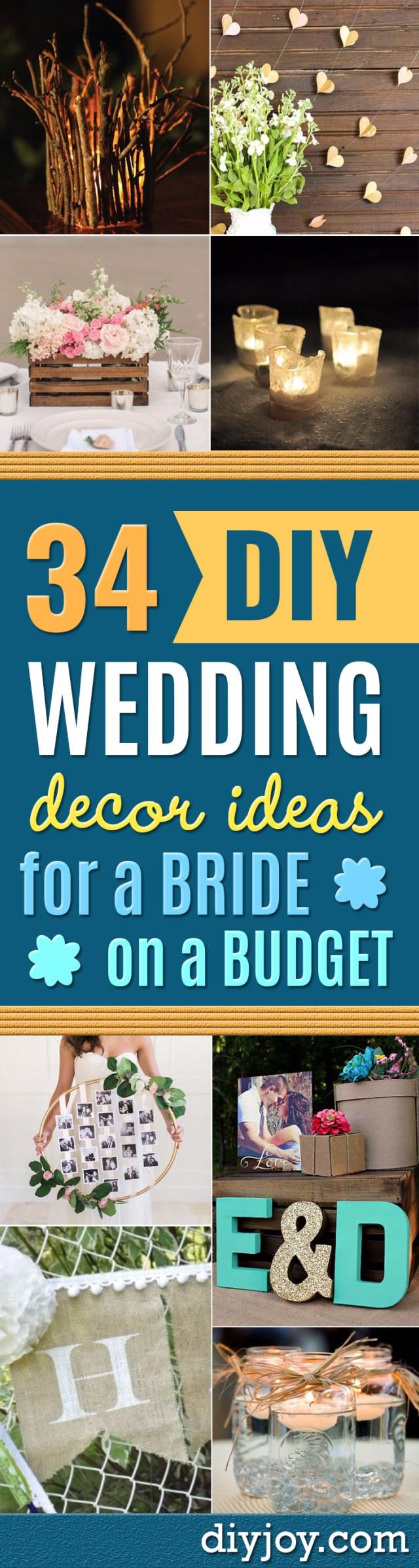 Easy Diy Wedding Decorations 34 Diy Wedding Decor Ideas For The Bride On A Budget