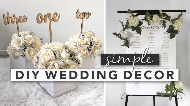 Easy Diy Wedding Decorations Simple Diy Wedding Decor Centerpieces Signs Party Favours Youtube