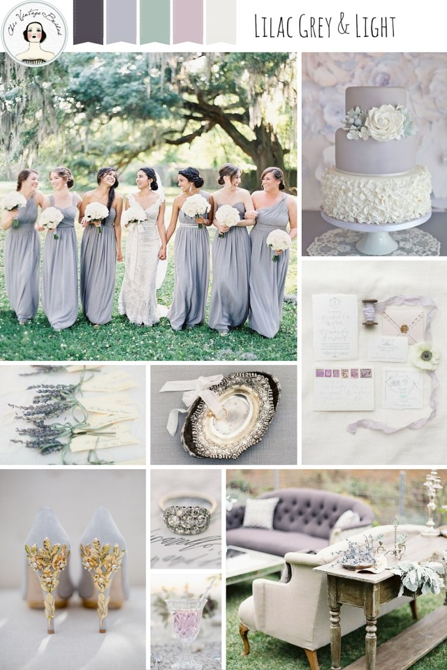 Elegant Wedding Ideas Elegant Wedding Ideas In A Chic Grey Pastel Palette Chic Vintage