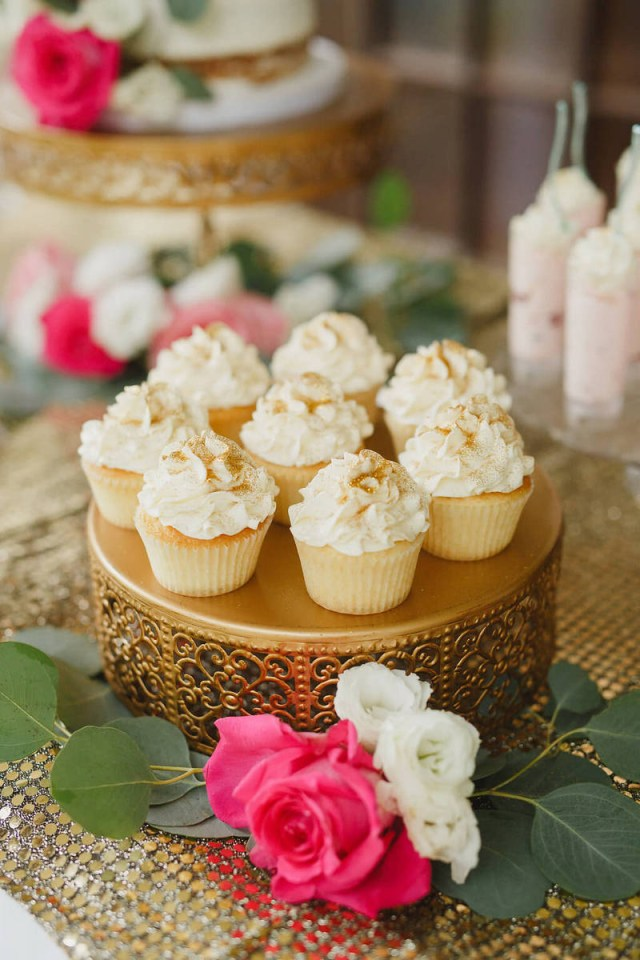 Elegant Wedding Ideas Gold Pink Rustic Elegant Wedding Cupcakes Knotsvilla Wedding