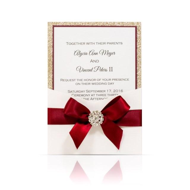 Elegant Wedding Invitation Classic Burgundy Elegance Wedding Invitation