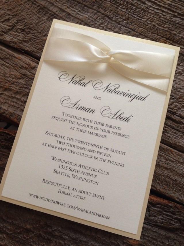 Elegant Wedding Invitation Elegant Wedding Invitation Set Champagne Wedding Invitation