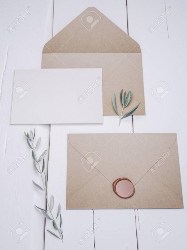 Elegant Wedding Invitation Place Card Mockup Envelope With An Elegant Wedding Invitation