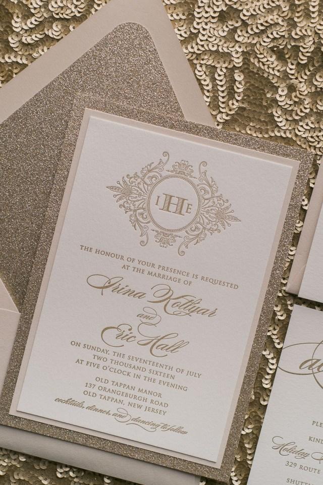 Elegant Wedding Invitation Real Wedding Irina And Eric Trendy Wedding Invitations Just