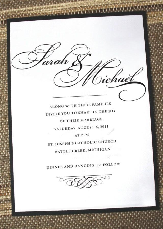 Elegant Wedding Invitation Simply Elegant Wedding Invitation Anna Malie Design On Etsy