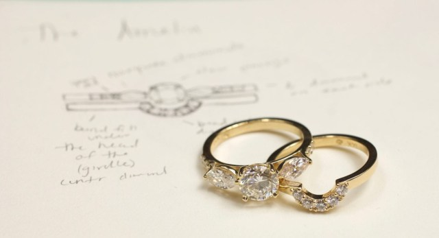 Engagement And Wedding Engagement Ring Vs Wedding Ring Ab Sparks Jewelry