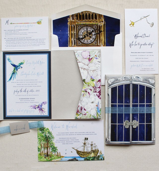 Fairytale Wedding Invitations A Peek Into The Studio Neverland Inspired Watercolor Wedding