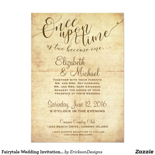 Fairytale Wedding Invitations Fairytale Wedding Invitation Once Upon A Time In 2018 Fairytale
