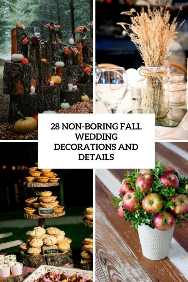 Fall Wedding Decorations 28 Non Boring Fall Wedding Decorations And Details Weddingomania