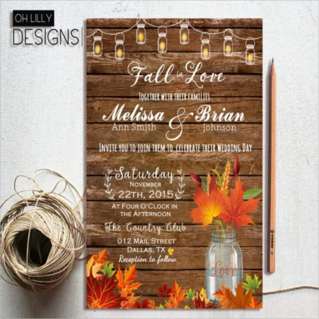 Fall Wedding Invitation Fall Wedding Invitation Templates Free Best With Fall Wedding
