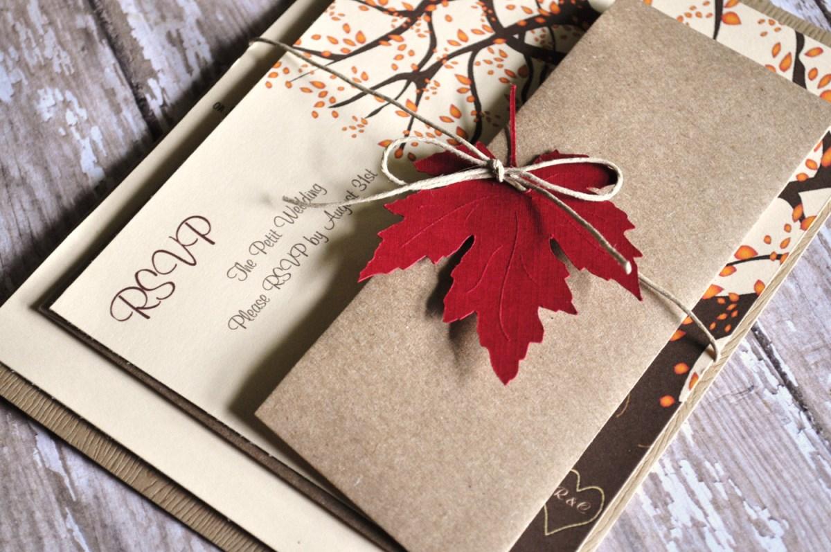 Fall Wedding Invitation Fall Wedding Invitations Autumn Wedding Invites Idealpin