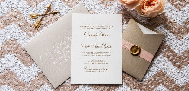 Foil Stamped Wedding Invitations Gold And Silver Foil Wedding Invitations Foiled Invitations