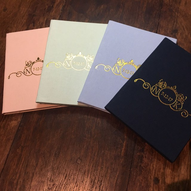 Foil Stamped Wedding Invitations Gold Foil Stamped Monogram Wedding Date Linen Pocket Fold Invite