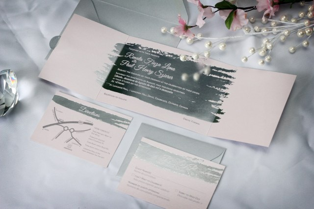 Foil Stamped Wedding Invitations Silver Foil Stamped Wedding Invitations Impressions Custom