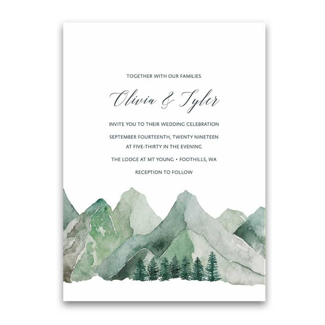 Forest Wedding Invitations Forest Wedding Invitation Archives Noted Occasions Unique And