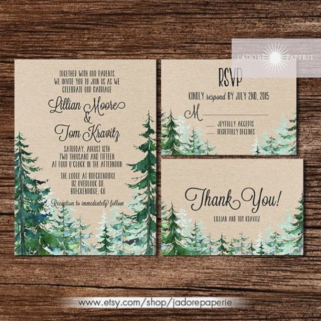 Forest Wedding Invitations Forest Wedding Invitations Elegant Forest Wedding Invitation Rustic