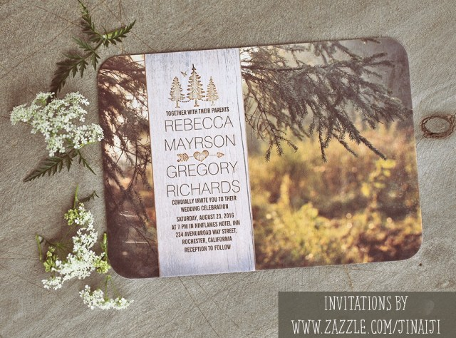 Forest Wedding Invitations Forest Wedding Invitations With Rustic Wood Design Need Wedding Idea