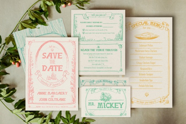Forest Wedding Invitations Whimsical Forest Wedding Invitation Suite Klapauciusco