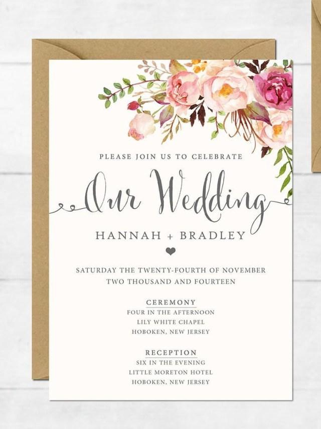 Free Printable Wedding Invitation Templates For Word The Surprising Free Printable Wedding Invitation Templates For Word