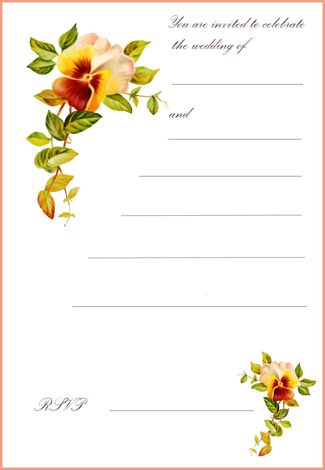 picture relating to Free Printable Wedding Cards referred to as 27+ Very Picture of Absolutely free Printable Wedding ceremony Invites
