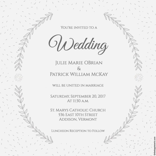 Free Printable Wedding Invitations Free Printable Wedding Invitations Popsugar Smart Living
