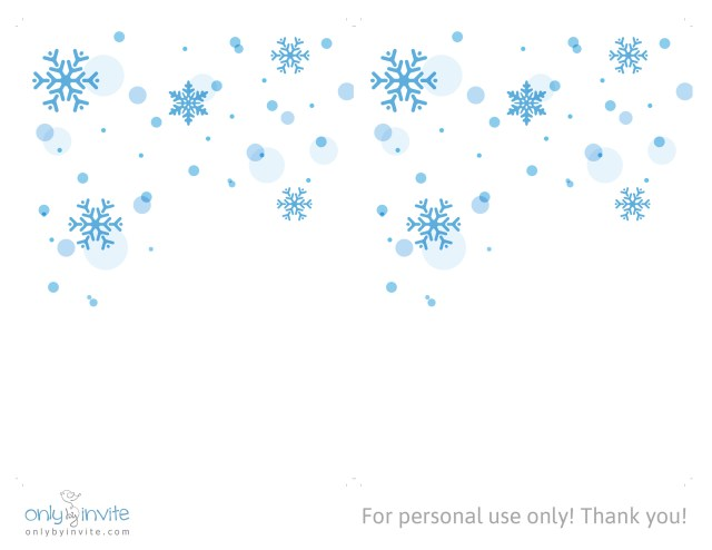Free Printable Wedding Invitations Free Winter Wedding Invitation Template Only Invite