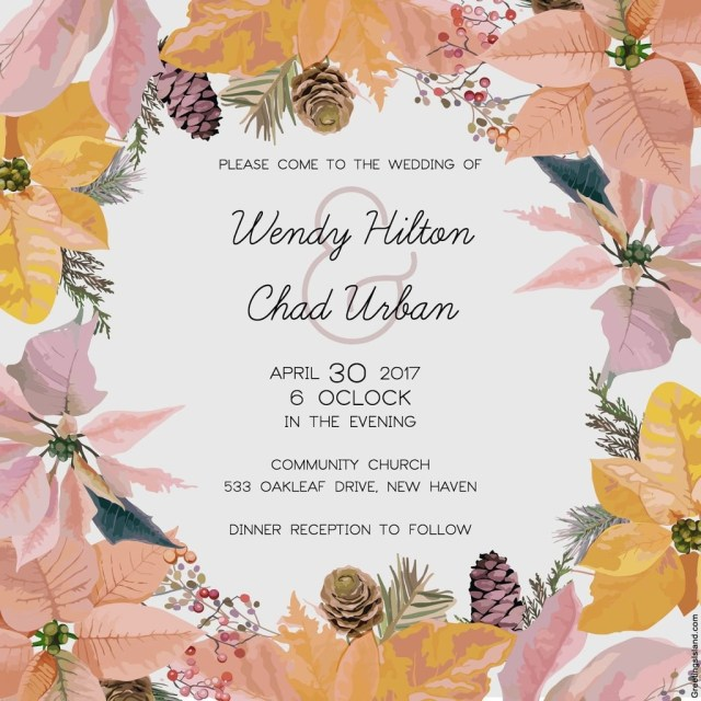 Free Wedding Invitations Free Printable Wedding Invitations Popsugar Smart Living