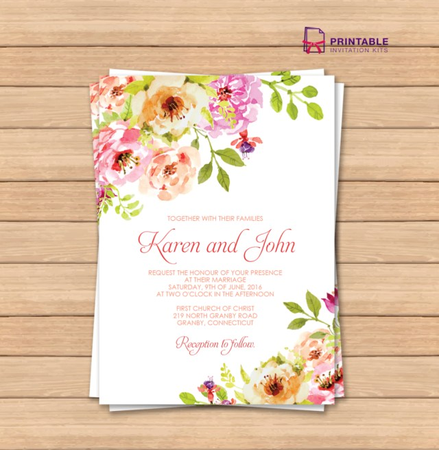 Free Wedding Invitations This Would Be Great With Different Colors Free Pdf Wedding