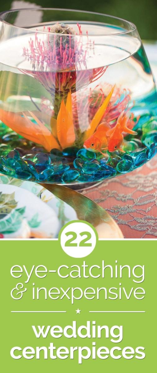Frugal Wedding Decor 22 Eye Catching Inexpensive Diy Wedding Centerpieces Thegoodstuff