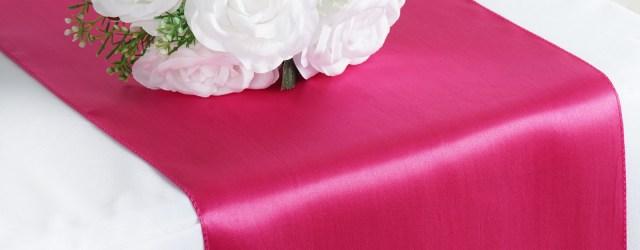 Fushia Wedding Decor Fuchsia Fushia Satin 12x108 Table Runner Wedding Party Catering