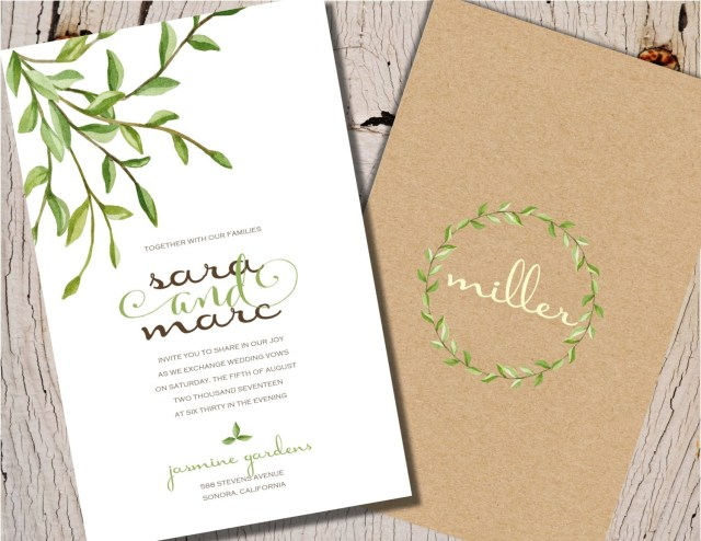 Garden Wedding Invitations Garden Wedding Invitations Nature Wedding Invitations Rustic Etsy