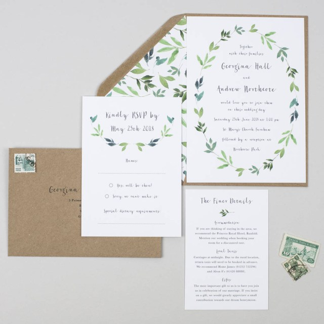 Garden Wedding Invitations Wedding Invitations Notonthehighstreet