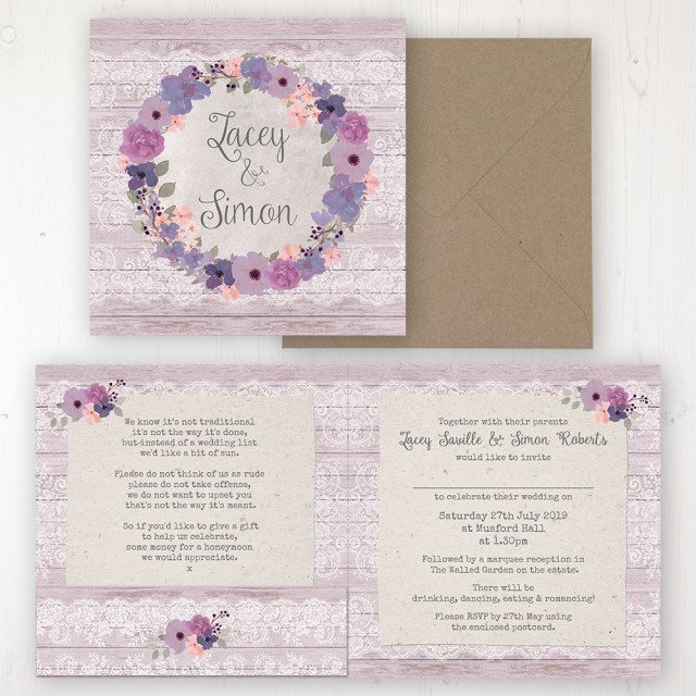 Garden Wedding Invitations Wisteria Garden Wedding Invitations Sarah Wants Stationery